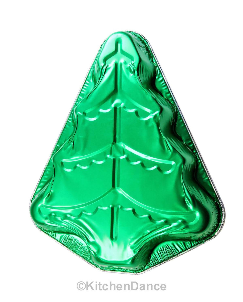 Christmas Tree Foil Pan with Plastic Dome Lid - Case of 100  #9501XP