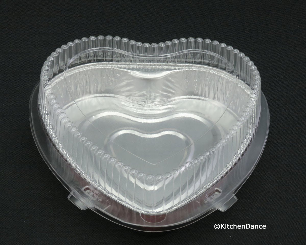 Heart Shaped Foil Pan with Clamshell Container - Case of 100 - #339-99