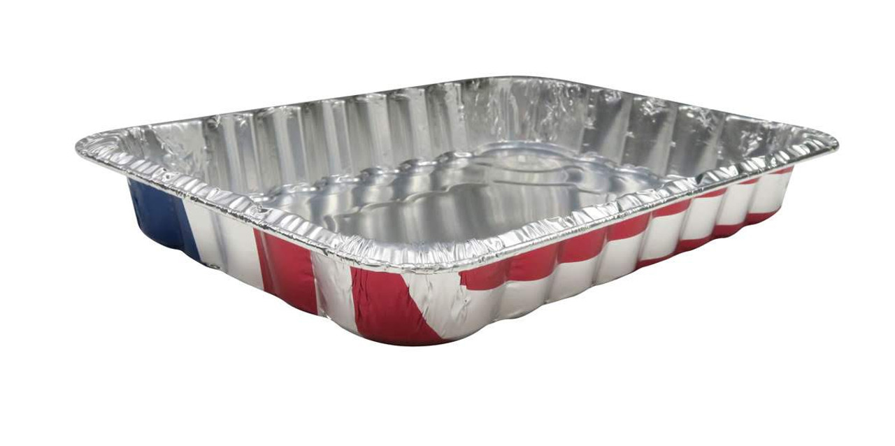 Disposable Aluminum American Flag Cake Pan - Case of 100  #1776NL