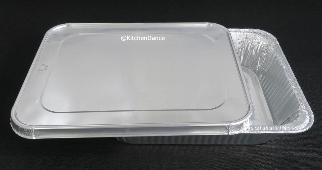 Deep Half Size Steam Table Pans with Foil Lids -  Case of 100 -  #4200L