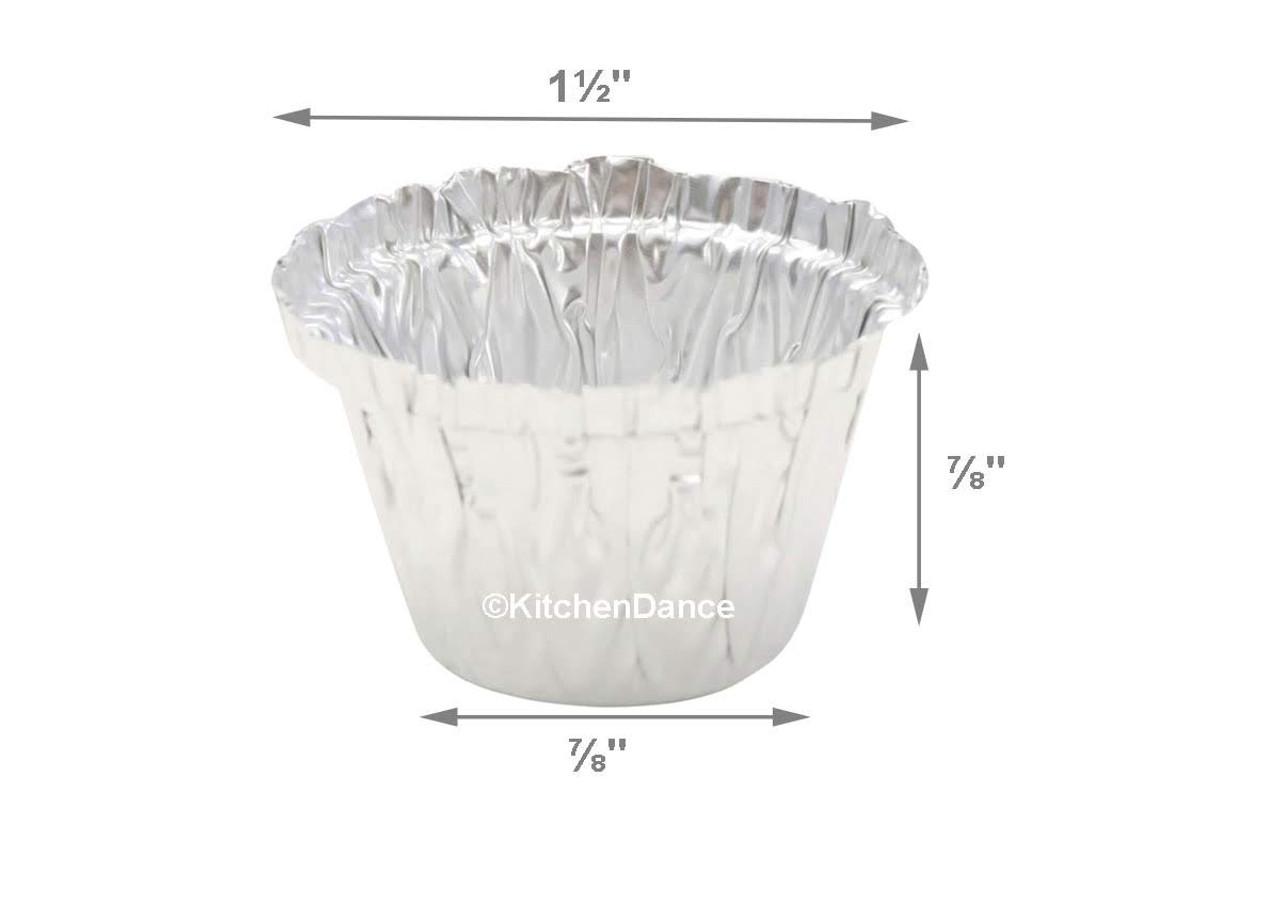 ½ oz. Mini Aluminum Foil Utility Cups - Case of 1000 - #S200