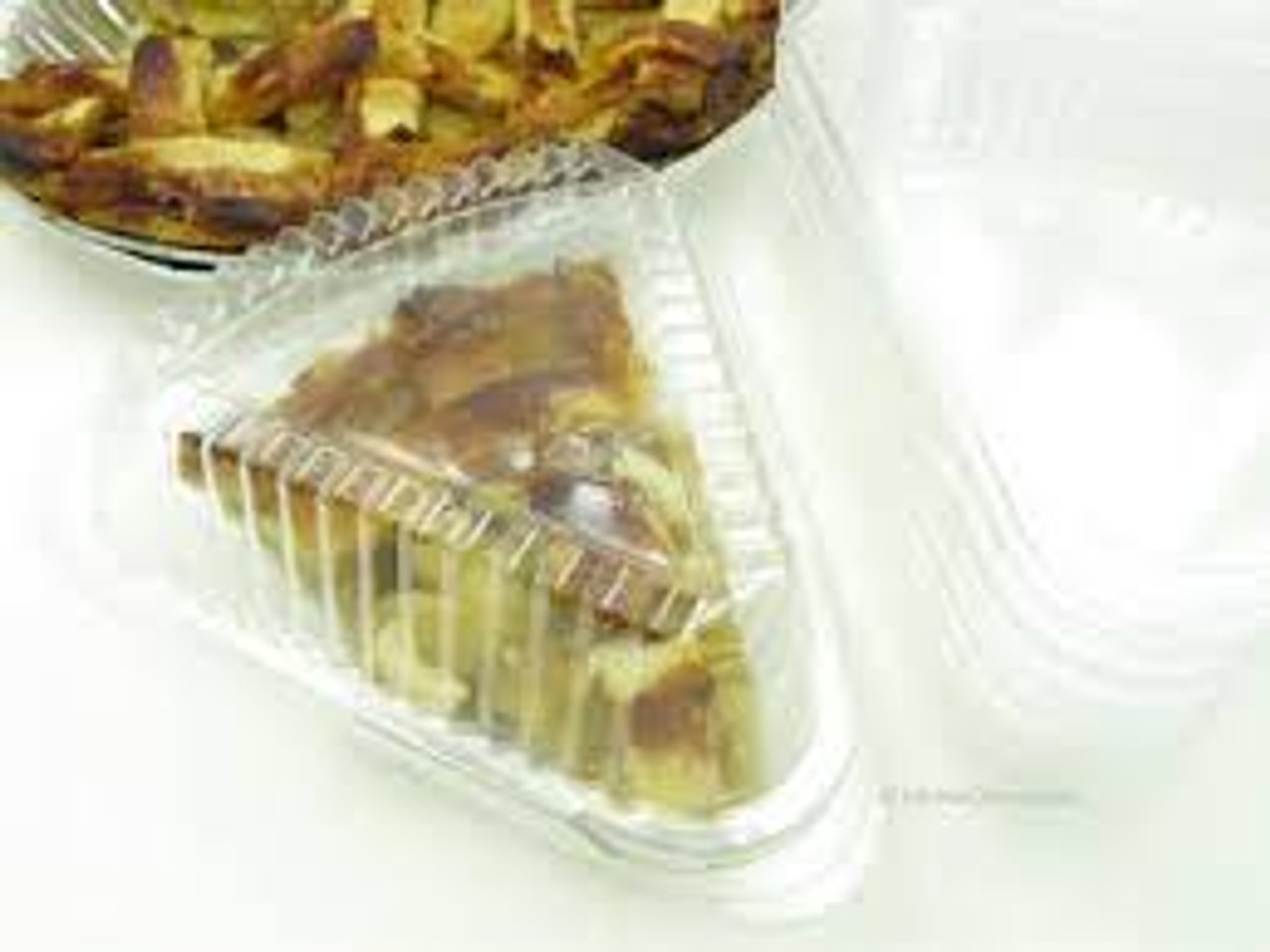 Disposable Plastic Hinged Pie Slice Container  -Case of 500  #9019