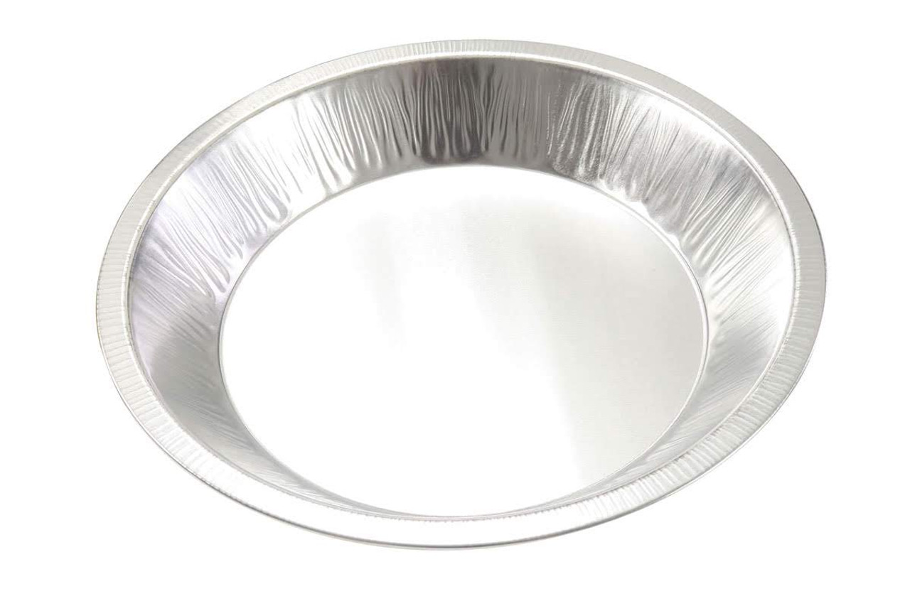 "KitchenDance 10"" Heavyweight Disposable Aluminum Pie pan  Case of 500 - #1070"