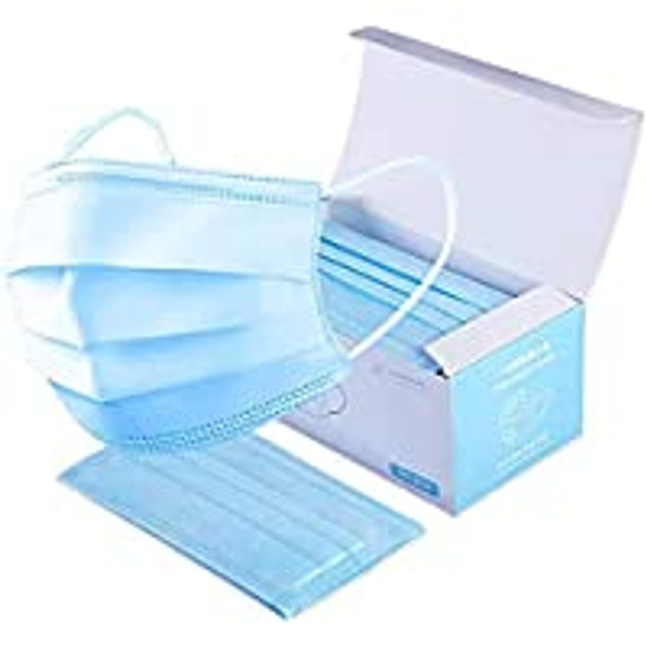Box of 50 Disposable 3 layer one time use face masks