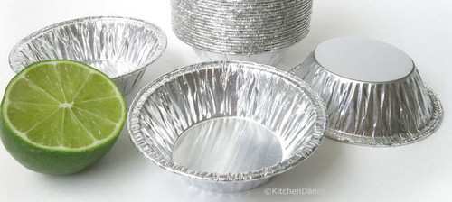 "3"" Disposable Small Aluminum Foil Tart Pan- Case of 1000  #301"