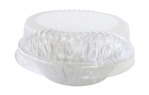 "3"" Disposable  Aluminum Tart Pan w/ Plastic Lid -  Case of 2000  #301P"
