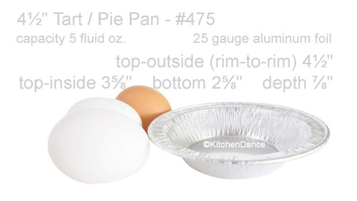 "4½"" Disposable Foil Tart/Pie Pan - Extra Deep - Case of 2000 #475"