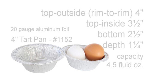 """4"""" Disposable Foil Tart or Pie Pan- Extra Deep - Case of 2000  #1152NL"""