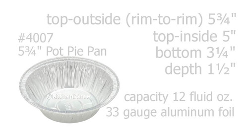 "Handi-Foil  5¾"" Disposable Foil Pot Pie Pan - Case of 1000  #4007"