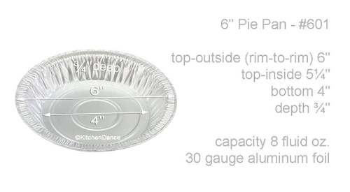 "6"" Disposable Aluminum Foil Pie Pan - Shallow -Case of 500  #601"