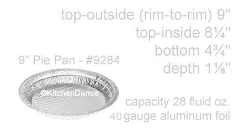 "9"" Quilted Disposable Aluminum Foil Pie Pan -  Case of 500  - #9284"