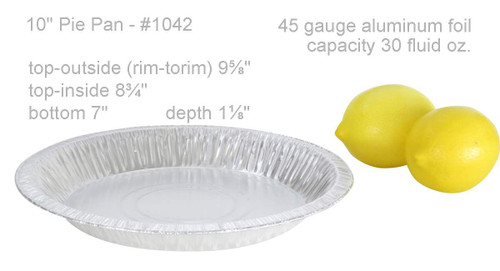 "10"" Disposable Aluminum Foil Pie Pan Deep- Case of 500  #1042"