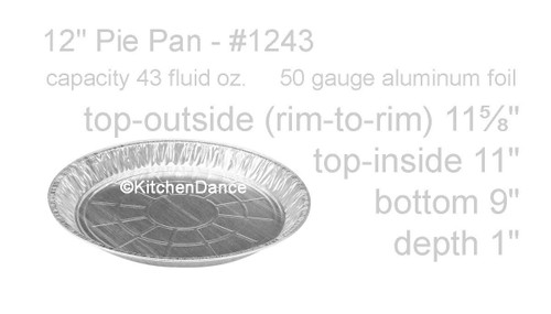"12"" Shallow Disposable Aluminum Pie Pan -  Case of 500  #1243"