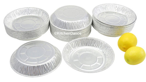"7"" Light-Aluminum Disposable Foil Pie Pan - Case of 1000  #A1500"