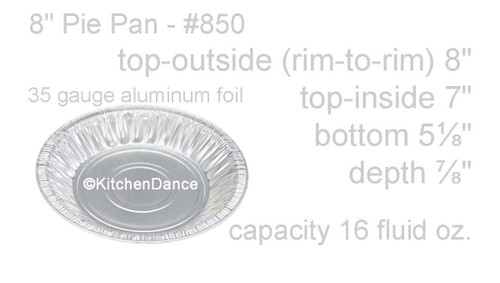 """8"""" Disposable Aluminum Foil Pie Pan - Case of 1000 - #850"""