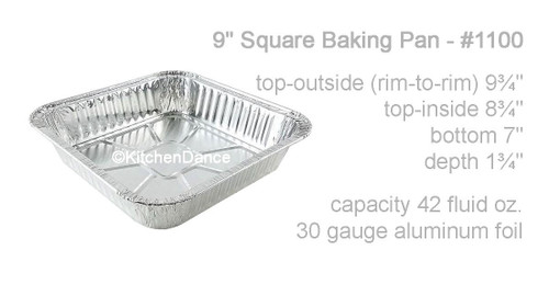"""9"""" Square Disposable  Cake Pan  Case of 500 - #1100"""