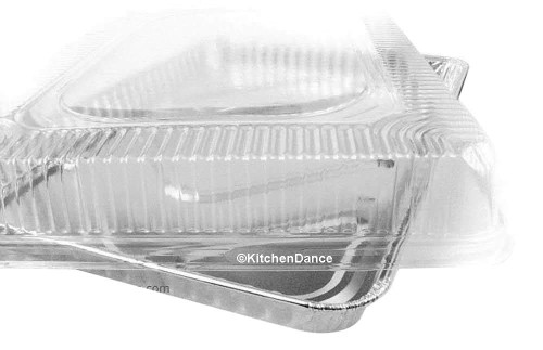 Disposable Aluminum Half Sheet Cake Pan with Plastic Lid  Case of 100 - #7300P