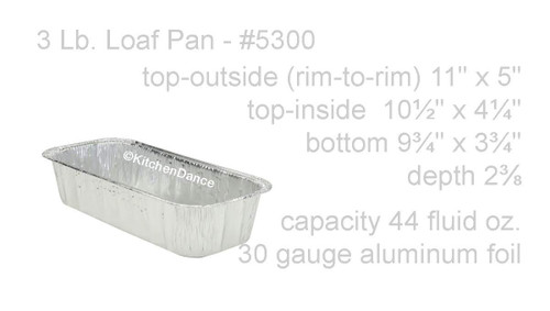 3 lb. Disposable Aluminum Loaf Pan - Case of 350 - #5300NL