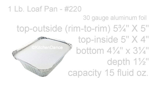 1 lb. Foil Carryout Pan with Board Lid - Case of 1000  #220L