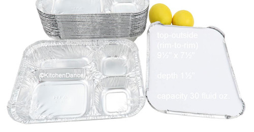 4-Compartment Carryout Tray with Board Lid - Case of 250  #4145L