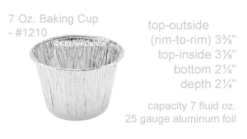 7 oz. Disposable Foil Cup & Dessert Pan - Case of 2000  #1210NL
