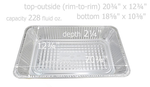Full Size Steam Table Foil Pan  Medium Depth -  Case of 50  #7800