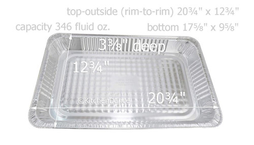 Disposable Full Size Steam Table Pan - Deep - Case of 50 #7900