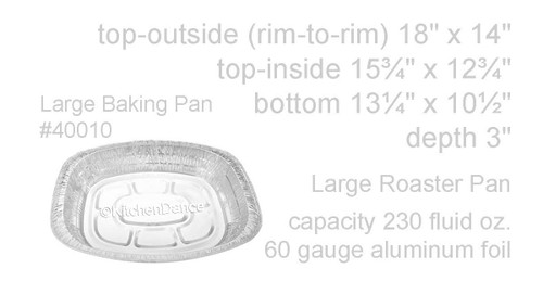 Large Oval-Shape Disposable Roaster Pan -  Case of 100  #40010NL