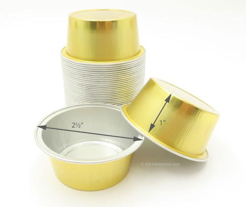 1½ oz.  Mini Disposable Aluminum Foil Cups - Case of 2000 - #A45NL