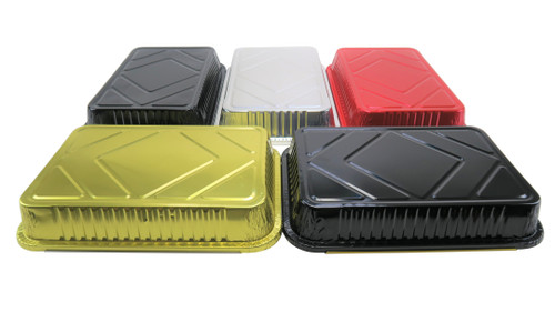 4 ½ lb. Colored Disposable Food Pan with Board Lid - Case of 200 - #52180L
