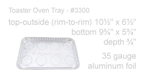Disposable Aluminum Foil Toaster Oven Tray - Case of 250  #3300