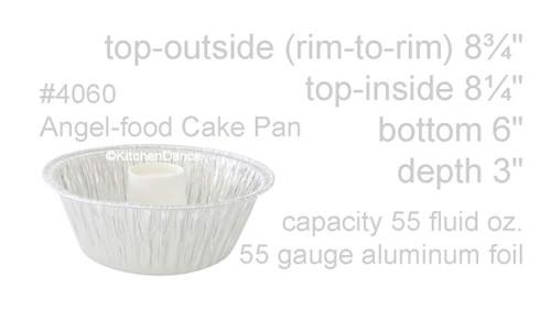 Angel Food Cake - Bundt Pan with Plastic Lid - Case of 250  #4060