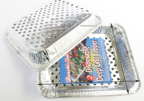Disposable Aluminum Foil BBQ Grill Wok Pans - Case of 120 #75600W