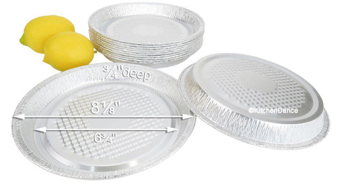 Individual Size Foil Pizza Pans  Case of 250 - #WE50