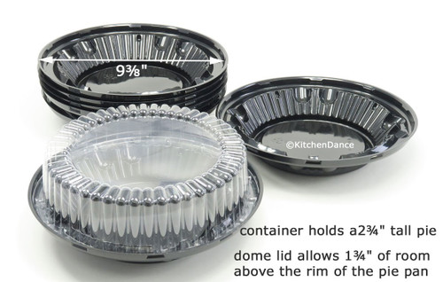 "8"" Two Piece High Dome Plastic Pie Container - Case of 100 #WJ37"