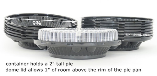 "8"" Low Dome Pie Container  Case of 100 - #WJ46"