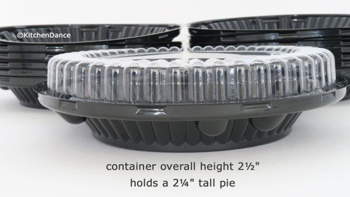 """10"""" Plastic Pie Container - Low Dome Lid - Case of 160 - #WJ44"""