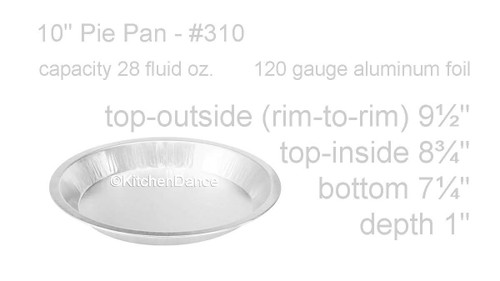 "Disposable 10"" Heavyweight Foil Pie Pan - Case of 200  #310"