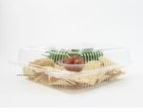 "9"" Square Hinged Plastic Deli Container - Case of 200  #CPC900"