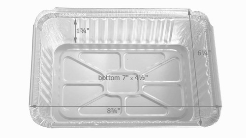 2¼ lb. Holiday Oblong Foil Pan with Dome Lid - Case of 100 #9201X