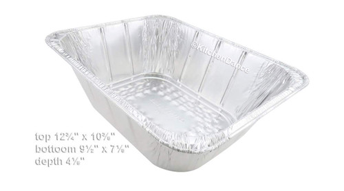 Extra Deep Half Size Steam Table  Pan with Foil Lid -  Case of 100 - #4288L