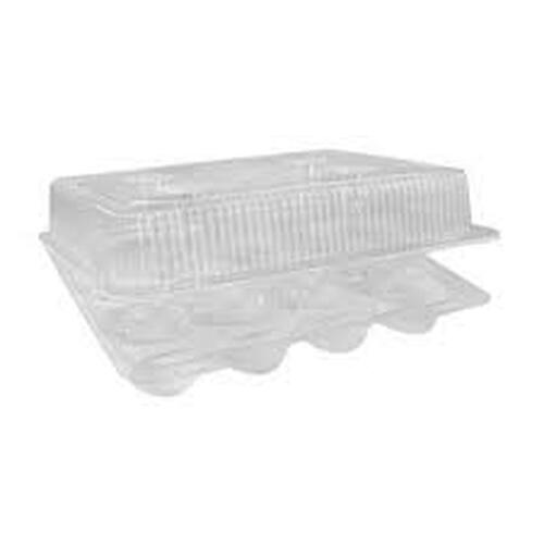 12 Count Plastic Cupcake Container- Case of 100 - #CPC-212