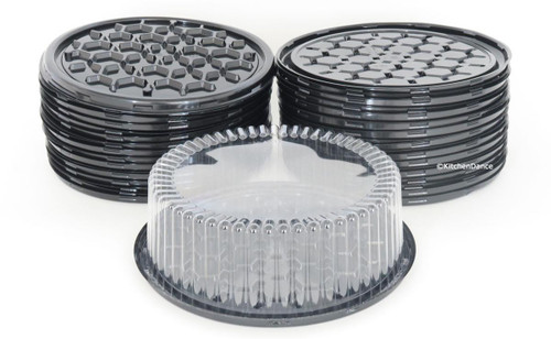"""10"""" Cake Container for 1-2 layers  Case of 80 - #WG33"""