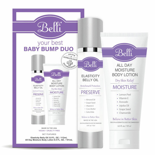 Belli Skincare Your Best Baby Bump Duo