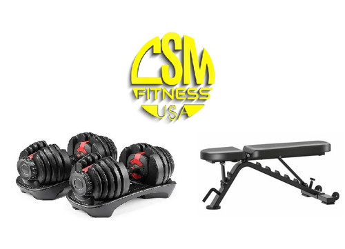 Dumbbell and Bench Package