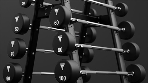 STRAIGHT CURL BARBELL