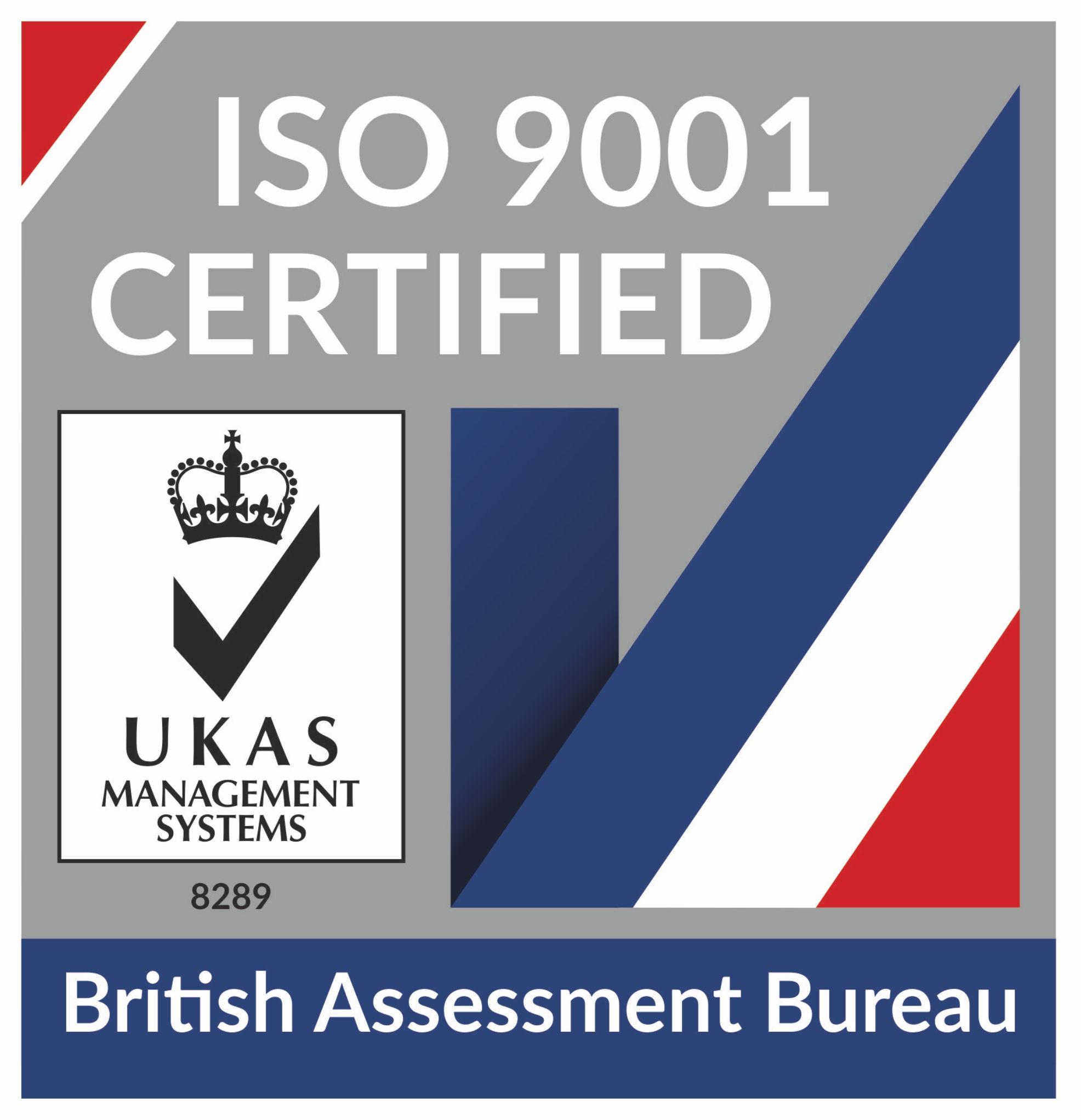 ISO9001 Certified logo