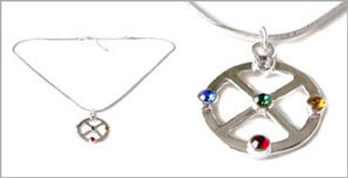 Silver Medicine Wheel Pendant