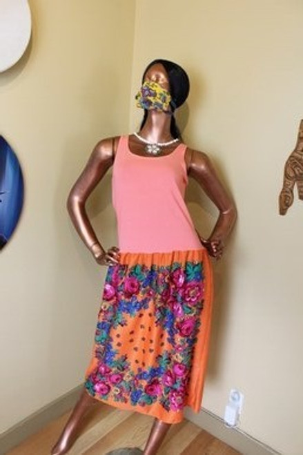 Coral Kokum Scarf Dress by the incredible Yvonne Jobin.