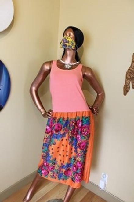 Orange Kokum Scarf Dress by the incredible Yvonne Jobin.